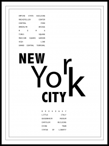 Plakat travel to NYC