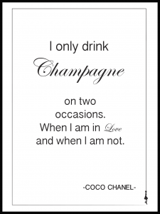 Plakat champagne champagne