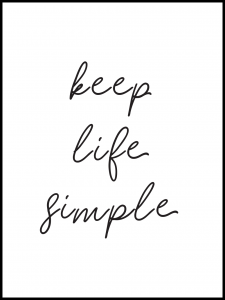 Poster keep life simple