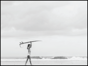 Plakat surfer girl