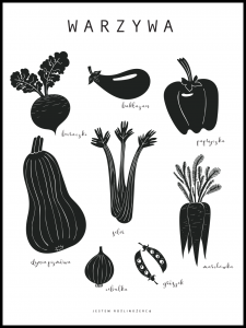 Plakat organic vegetables