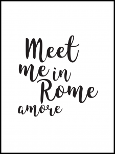 Plakat meet me in Rome