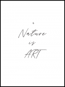Poster nature is art