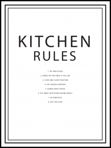 Plakat kitchen rules