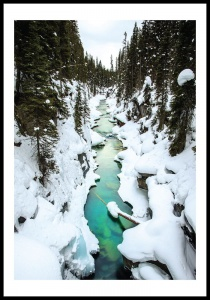 Plakat wintery river