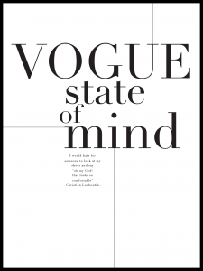 Plakat vogue state of mind