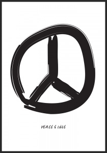 Poster peace and love