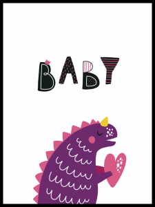 Poster dino baby