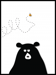 Plakat bear and bee