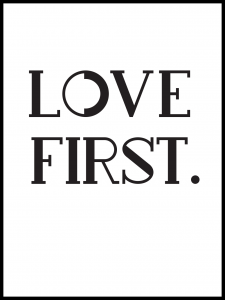 Plakat love first