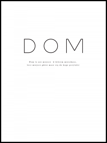 Plakat Dom
