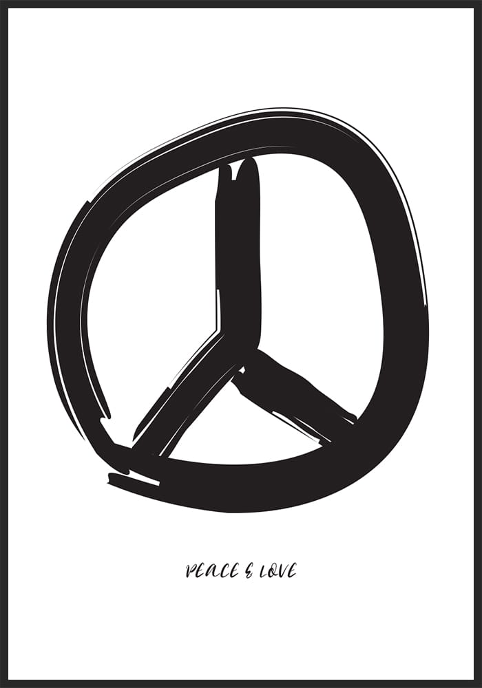 Plakat peace and love